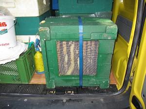 Bienentransport - so geht es auch!